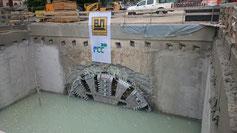 Tunnelbau Durchschlag Karlsruhe