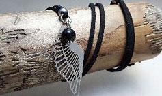 Silberkette Turmalin & Engelflügel