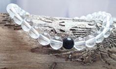 Bergkristall Armband mit Turmalin