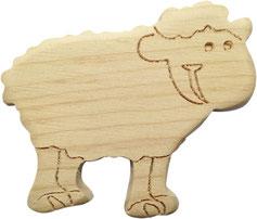 kleines Schaf aus Zirbenholz