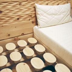 Relax-Naturtellersystem mit Matratze und Kissen