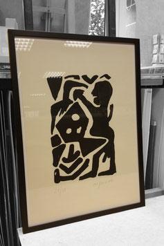 Druckgrafik mit Normalglas