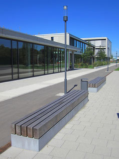 Campus Solid Wood Bench