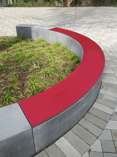 """Pop HPL bench pad"" - Individual decor, desired color and desired size possible. Smooth or structured surface or with slip resistance."