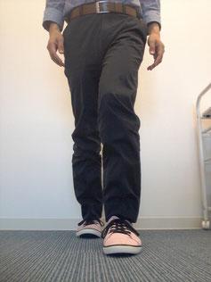 香芝の美容整体師の足