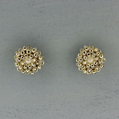 Ohrringe weißgold -perlmutt Miyuki