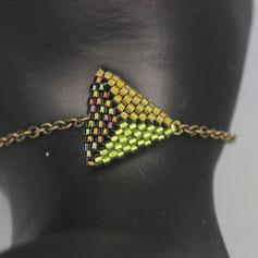 Armband hellgrün-dunkelgrün-olive Deilca