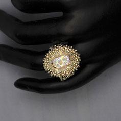 Ring weißgold-silber-regenbogen Swarovski Miyuki