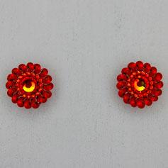 Ohrringe rot-orange Miyuki Swarovski