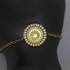 Armband weiß-gold swarovskichaton