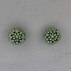 Ohrringe metallic grün Miyuki