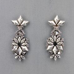 Ohrringe silber Gemstone Duo Glasperlen