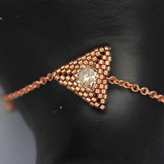 Armband rosegold-weiß Swarovskichaton Deilca