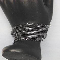 Armband hematite Delica
