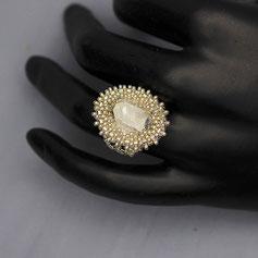 Ringe weißgold-silber Swarovski Miyuki