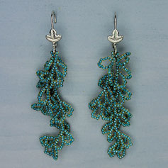 Ohrringe blau grün Tohobeads