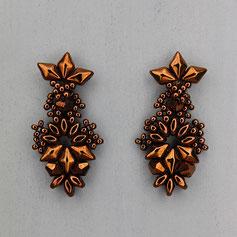 Ohrringe bronze Gemstone Duo Glasperlen