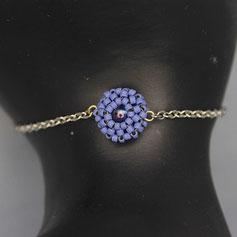 Armband lavendel-blau Miyuki