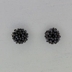 Ohrringe matt schwarz-blau Miyuki