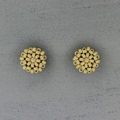 Ohrringe Perlmutt-matt weißgold Miyuki