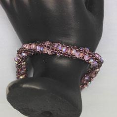 Armband violet  Miyuki Glasschliffperlen