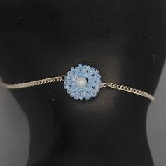 Armband hellblau-weiß Miyuki