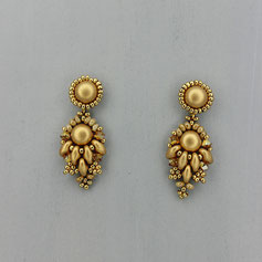 Ohrringe gold Cabochon Duo