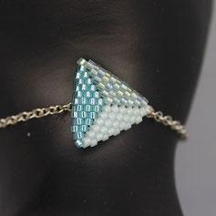 Armband weiß-hellblau-türkis Deilca