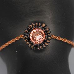 Armband rose-gold-schwarz Swarovskichaton