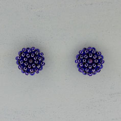 Ohrringe blau-lila Miyuki