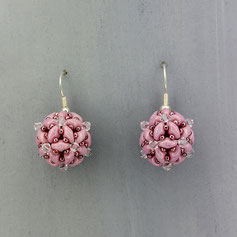 Ohrringe rosa-weiß Duo Swarovski