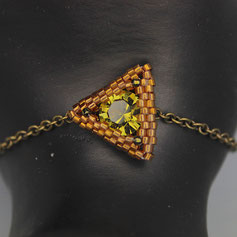 Armband braun-grün Swarovskichaton Deilca