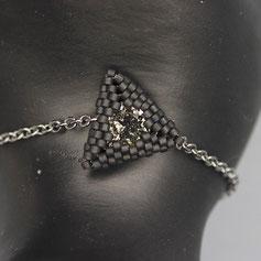 Armband schwarz Swarovskichaton Deilca