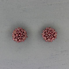 Ohrringe metallic rosa Miyuki