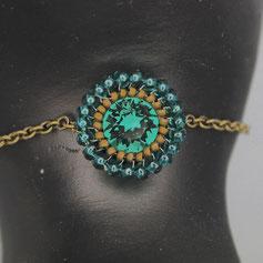Armband emerald-altgold Swarovskichaton