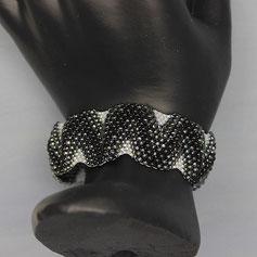 Armband schwarz-weiß Miyuki