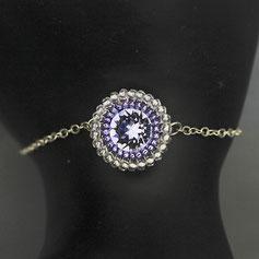 Armband Lavendel-silber Swarovskichaton