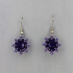 Ohrringe metallic violet Swarovski Chaton Rocailles