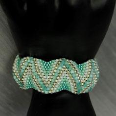 Armband silber-peridot  Miyuki