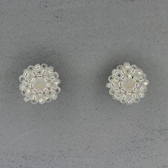 Ohrringe weiß-opal Miyuki