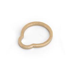 Ring, gold, minimalistisches Design, Schmuckdesign, Schmuckdesignerin aus Düsseldorf, Maren Düsel Schmuckdesign, 3D-Druck, jewellerydesign, gold-plated, 3D-printed, made in Düsseldorf
