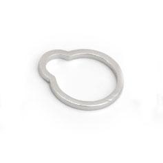 Ring, Sterling Silber, minimalistisches Design, Schmuckdesign, Schmuckdesignerin aus Düsseldorf, Maren Düsel Schmuckdesign, 3-D Druck