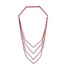 Kette mehrreihig, rot, schwarz, grün , Stäbchenkette, minimalistisches Design, Schmuckdesignerin Düsseldorf, Schmuckdesign Düsseldorf, Designerin Maren Düsel, handgefertigt