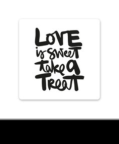 "Keramikuntersetzer ""love is sweet take a treat"" kaufen"