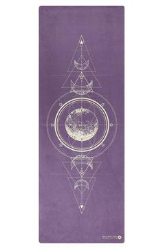 Yogamatte Naturkautschuk Mond violett