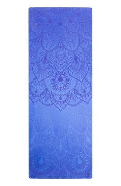Yogamatte Naturkautschuk Mandala blau