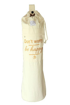 "Yogamattentasche Baumwolle ""Don't worry, be happy"""