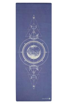 Yogamatte Moon blau
