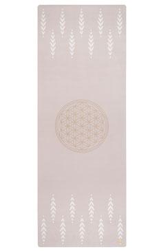 Yogamatte Naturkautschuk Blume des Lebens