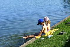 Baden und schwimmen am Lübbesee
